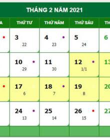 Tháng 2 có bao nhiêu ngày? Tháng 2 có bao nhiêu ngày nghỉ lễ?